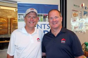 Charlie Young, President & CEO of ERA Franchise Systems joins Bill Soffel, Broker/Owner of ERA Team VP for this year's Agent of Hope Golf Tournament held on August 26, 2015.