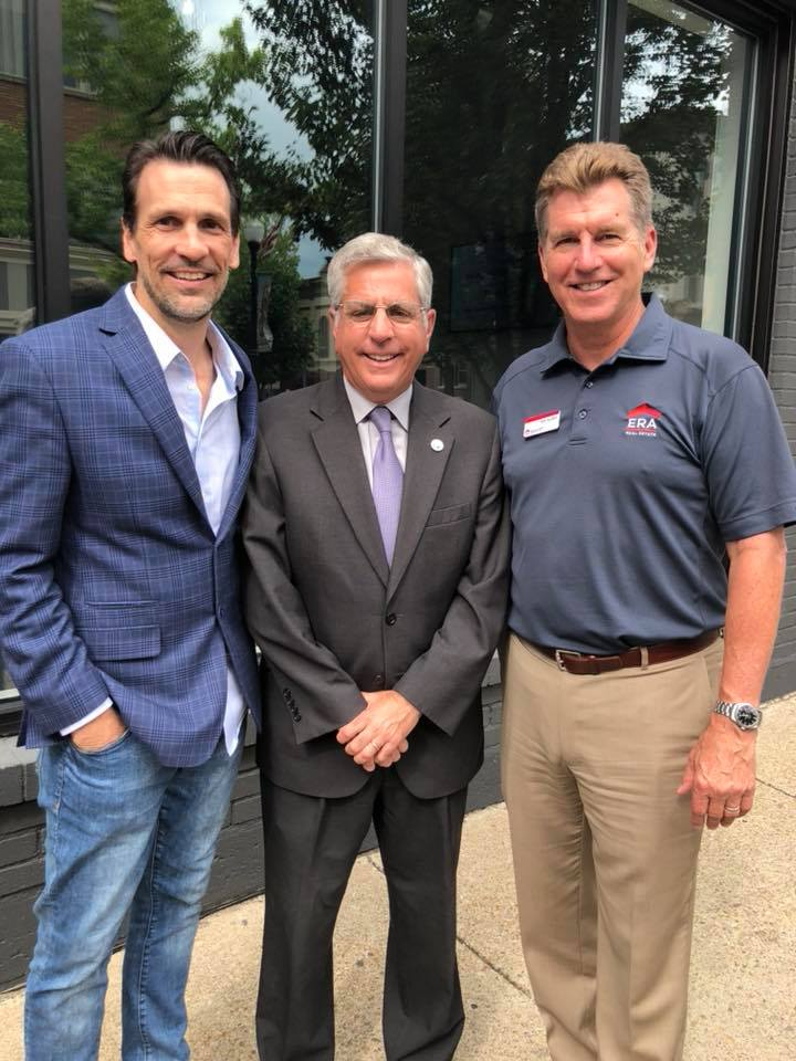 Right to left: business development/broker for Lynn Real Estate Solutions, Michael McVinney; Mayor Sam Teresi (Jamestown, NY); broker/owner of ERA Team VP, Bill Soffel